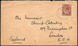 South Africa 1921. Transvaal. ELANDSHOEK To London. Railway Postmark. - South Africa (...-1961)