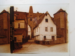 Plaque De Verre Stéréoscopique -  ALLEMAGNE - Village De ALF MOSEL - Eglise Et Tourelle  - 6 X 13  T BE - Diapositiva Su Vetro