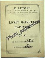 Livret Document Guerre 14-18 Aviation Airplane Military WW1 VILLACOUBLAY Yvelines 78 - Documents