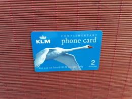 KLM Prepaidacrd 2 Minutes 2 Scans  Rare - Télécartes