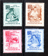 Indonesia -1955. Emissione Pro Ciechi. Tessitori E Studenti. Pro-blind Issue. Weavers And Students. MNH - Altri