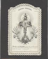 Themes Div-ref AA913- Images Religieuses - Image Religieuse - Image Pieuse Dentelée - Fleurs Celestes -marie Et Joseph - Images Religieuses