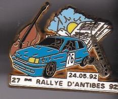 Pin's RALLYE D'ANTIBES 92 SIGNE ARTHUS BERTRAND - Renault