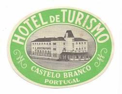 Portugal Etiquette Valise Hotel Turismo Castelo Branco Luggage Label - Hotel Labels