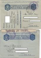 "9279-  N°. 2 FRANCHIGIE P.M. 2° GUERRA E N°. 7 LETTERE SPEDITE DA ""POSTA MILITARE N.56"" - Marcophilia"