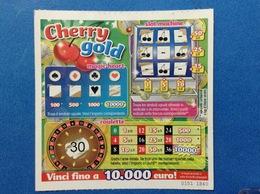 BIGLIETTO CONCORSI A PREMI CHERRY GOLD USATO - Biglietti Della Lotteria