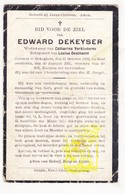DP Edward Dekeyser ° Bekegem Ichtegem 1856 † 1931 X Cath. Verkinderen Xx L. Deschacht - Devotion Images