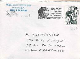 TP N° 2163 Seul Sur Enveloppe De Belfort - Marcophilie (Lettres)