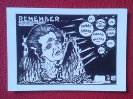 POSTAL POST CARD CARTE POSTALE MAGGIE MARGARET TATCHER POLITIC POLITICAL SATIRE REMEMBER BOBBY SANDS FRANCIS HUGUES..IRA - Satirische