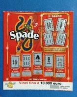 BIGLIETTO CONCORSI A PREMI SPADE USATO - Biglietti Della Lotteria