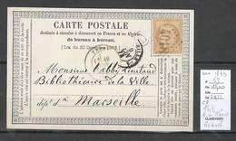 France - Carte Postale Précurseur - GC 4018 - TRETS Bouches Du Rhone - JUIN 1873 - 1849-1876: Période Classique