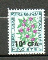 CFA  Taxe Fleur  Des Champs 1973 N°54 - Réunion (1852-1975)