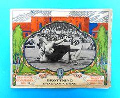 WRESTLING On OLYMPIC GAMES 1912. STOCKHOLM Vintage Programme/review 1912.y * Lutte Ringen Lotta Tug Of War Racewalking - Worstelen