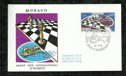 GRAND PRIX INTERNATIONAL D'ECHECS . 24 MARS 1967 . MONACO . - FDC