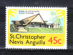 St. Christopher  Nevis Anguilla  - 1978. Hotel Kitts E Campo Di Golf. Hotel Kitts And Golf Course.MNH - Golf