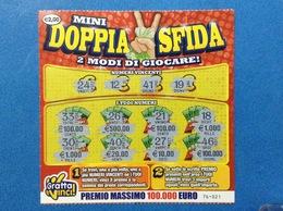 BIGLIETTO LOTTERIA GRATTA E VINCI USATO € 2,00 MINI DOPPIA SFIDA - Biglietti Della Lotteria