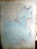 29 CONCARNEAU PLAN DU PORT ET DE LA VILLE  EN 1879 DE L'ATLAS DES PORTS DE FRANCE 49 X - Cartas Náuticas