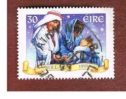 IRLANDA (IRELAND) - SG 1279  - 1999 CHRISTMAS   - USED - 1949-... Repubblica D'Irlanda