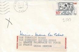 TP N° 2173 Seul Sur Enveloppe De Berck - Marcophilie (Lettres)