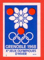ETIQUETTE DE BOITE D'ALLUMETTES -J.O. D'HIVER - GRENOBLE 1968 - Boites D'allumettes - Etiquettes