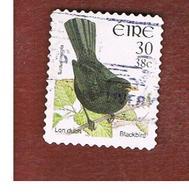IRLANDA (IRELAND) - SG 1430  -   2001  BIRDS: TURDUS MERULA   - USED - 1949-... Repubblica D'Irlanda
