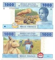 Central African St. Cameroun / U - 1000 Francs 2002 (letter U) UNC Serie 77… Lemberg-Zp - Centraal-Afrikaanse Staten