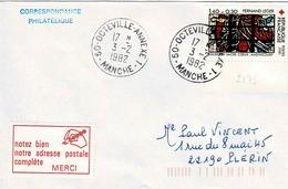 TP N° 2175 Seul Sur Enveloppe De Octeville Annexe1 - 1961-....