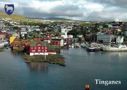 1 AK Färöer Faroe-Islands * Blick Auf Tinganes - Eine Halbinsel Im Hafen Der Hauptstadt Tórshavn * - Féroé (Iles)