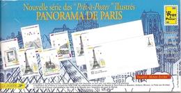 Lot 5 PAP Illustrés - PANORAMA DE PARIS - Neufs,  Sous Blister. 1988. - Prêts-à-poster:  Autres (1995-...)