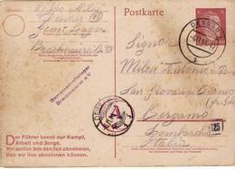 PRISONNIER DE GUERRE 40 45 STALAG LAGER BRACHMEIEREI VERS ITALIE MARQUE CAMP ET CENSURE OKW MANIUELLE LETTRES AD 1944 - Militaria