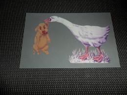 Carte ( 71 )  Avec Collage En Feutre  -  Cochon  Varken  Zwijn - Cartes Postales