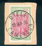 CAMEROUN KAMERUN N°119  OB RARE OTELE 19 SEPTEMBRE 1935 SUR FRAGMENT TB - Cameroun (1915-1959)