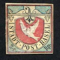 Suisse, Postes Locales, N°8, Colombe De Bâle, Faux - 1843-1852 Kantonalmarken Und Bundesmarken