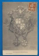 80 # PÉRONNE - BLASON -  ARMES DE LA VILLE - AVEC DÉCORATIONS: CROIX DE GUERRE ET LÉGION D'HONNEUR - Peronne