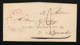 1837  VAN MALINES 1837 A BRUXELLES   2  SCANS - 1830-1849 (Onafhankelijk België)