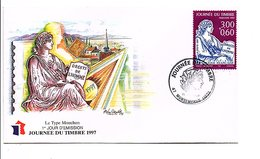 FDC 1997 JOURNEE DU TIMBRE MONSEMPRON LIBOS LOT ET GARONNE - FDC