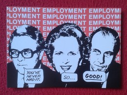POSTAL POST CARD CARTE POSTALE MAGGIE MARGARET TATCHER POLITIC POLITICAL SATIRE COMMUNIST PARTY OF GREAT BRITAIN 1983 - Sátiras