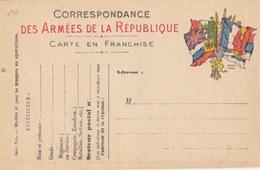 """Carte FM """"7 Drapeaux"""" (Stern) Modèle A1 Troupes En Opération Neuve (carton Jaunâtre) - Entiers Postaux"""
