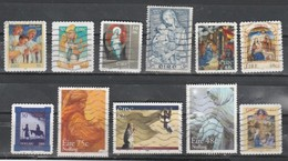"IRELAND-Assortment 0f 11 Used Stamps. Scott CV $ 17.50-"" Christmas"". - Altri"