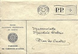 Suisse   , GENEVE  EXP LETTRES  1941 - Svizzera