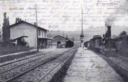 71 - Saone Et Loire - SAINTE CECILE - La Gare - Train Vapeur En Gare - RARE - France
