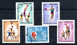 ALBANIE 1969, Championnat Europe Basket-ball, 5 Valeurs, Oblitérées / Used. R087 - Albanien