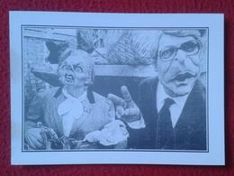 POSTAL POST CARD CARTE POSTALE MAGGIE MARGARET TATCHER POLITIC POLITICAL SATIRE JOHN MAJOR Spitting Image ? SÁTIRA UK VE - Sátiras