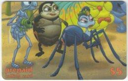 USA B-587 Prepaid  - Cinema, Walt Disney, A Bug's Life (Puzzle 3 Of 4) - FAKE - Etats-Unis