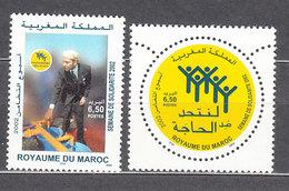 Marruecos Frances - Correo 2002 Yvert 1312/3 ** Mnh - Marruecos (1956-...)