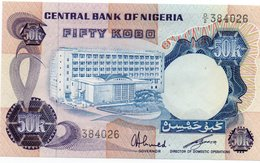 NIGERIA=N/D    50  KOBO    P-14f          UNC - Nigeria