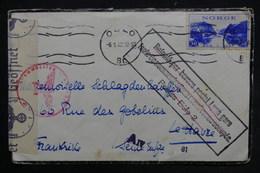 """FRANCE / NORVÈGE - Cachet """" Refoulé Par Bureau Postal Lyon Gare .. """" Sur Enveloppe De Oslo En 1942 Pour Havre - L 24527 - Marcophilie (Lettres)"""
