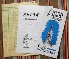 Lot De 3 ARLON Au Deby Petanque Du Beau Site 1961 Cite Romaine - Sports & Tourisme