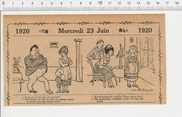 2 Scans Humour De 1920 Crise Du Papier Devoirs D'école écolier / Pique-nique Campagne 216E7 - Vieux Papiers