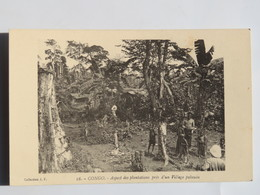 C.P.A.  : CONGO Français Brazzaville : Aspect Des Plantations Près D'un Village PAHOUIN , Animé - Congo - Brazzaville